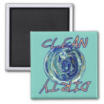 Blue Earth Abstract Dishwasher Magnet