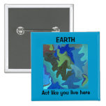 Blue EARTH, Act like you live here pin
