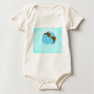 Blue  Earth Baby Bodysuit
