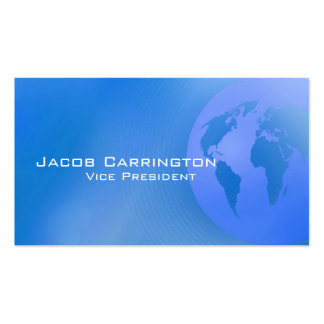 Blue Earth Background Double-Sided Standard Business Cards (Pack Of 100)