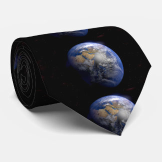 Blue Earth From Space  Inspirational Tie