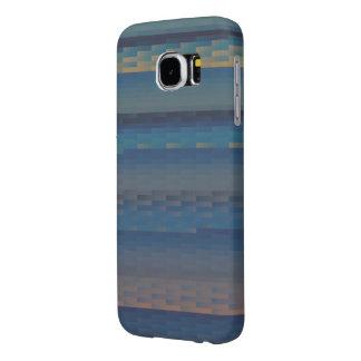 Blue Earth Gradient Tile Samsung Galaxy S6 Case