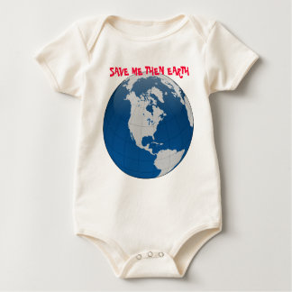 Blue Earth High Quality Print Baby Bodysuit