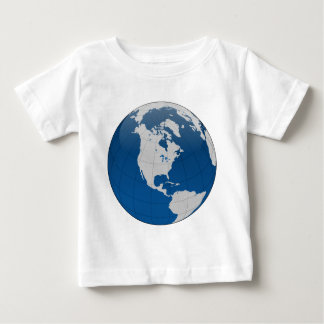 Blue Earth High Quality Print Baby T-Shirt