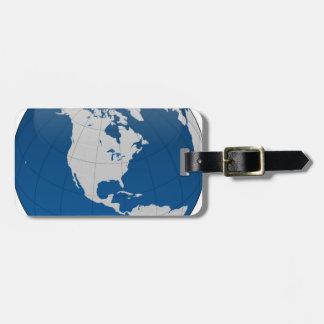 Blue Earth High Quality Print Luggage Tag