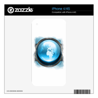 Blue earth iPhone 4 skins