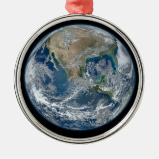Blue Earth Metal Ornament