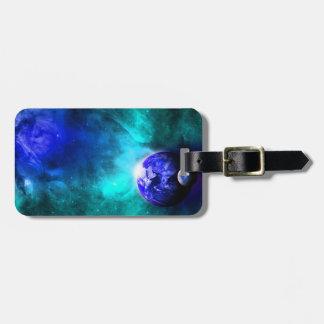 Blue Earth Moon Space Bag Tag