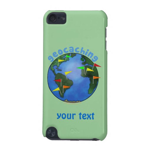 Blue Earth With Flags Geocaching Custom iPod Touch (5th Generation) Covers