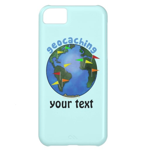 Blue Earth With Flags Geocaching Custom iphone 5 iPhone 5C Case