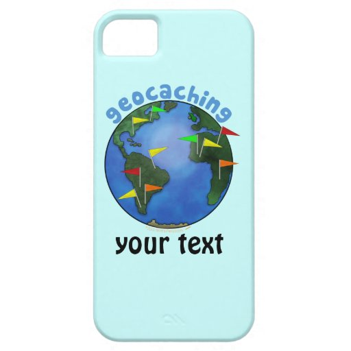Blue Earth With Flags Geocaching Custom iphone 5 iPhone 5 Cover