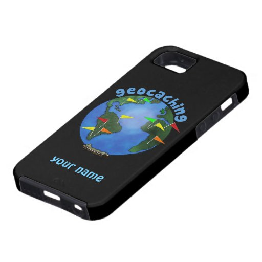 Blue Earth With Flags Geocaching Custom iphone 5 iPhone 5 Case
