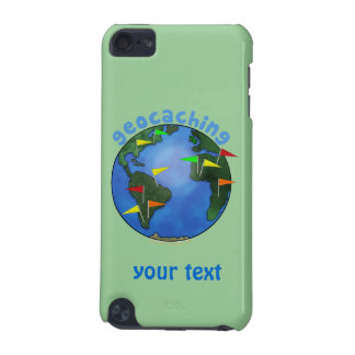 Blue Earth With Flags Geocaching Custom iPod Touch 5G Cover