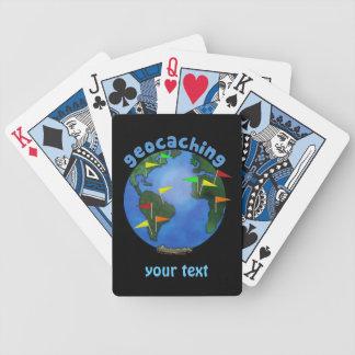 Blue Earth With Flags Geocaching Custom Card Decks