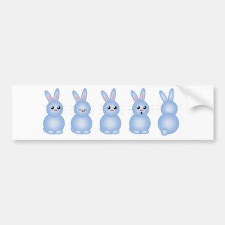 Blue Easter Bunnies Bumper Stickers