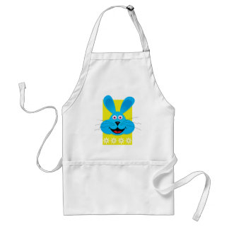 Blue Easter Bunny Adult Apron
