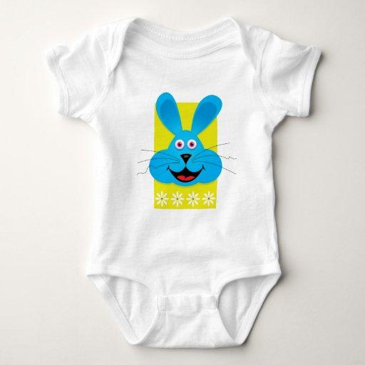 Blue Easter Bunny Baby Bodysuit