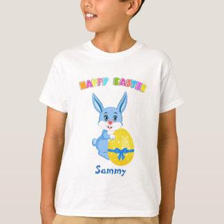 Blue Easter Bunny Cartoon T-Shirt