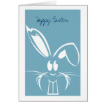 Blue Easter Bunny Easter Cards
