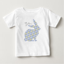 Blue Easter Bunny Graphic T-shirt for Kids