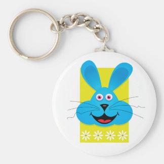 Blue Easter Bunny Keychain