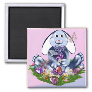 Blue Easter Bunny Magnet