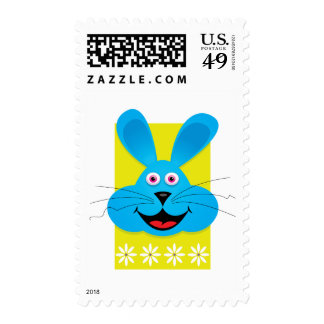 Blue Easter Bunny Postage
