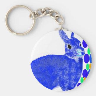 Blue Easter Bunny Rabbit Key Chain
