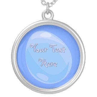 Blue Easter Egg Necklace
