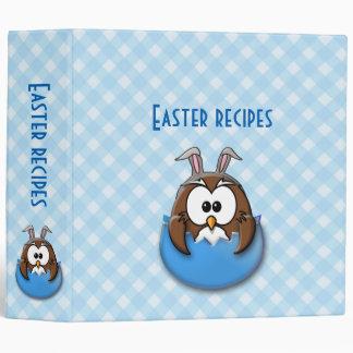 blue Easter owl - binder