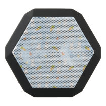 Blue Easter Pattern Black Bluetooth Speaker