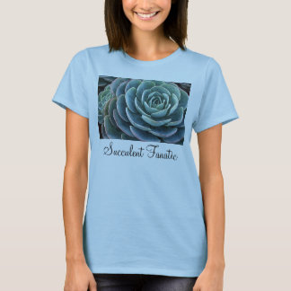 Blue echeveria ladies' T-shirt