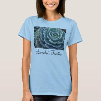 Blue echeveria ladies' T-shirt