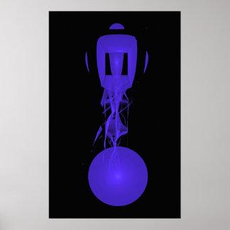 Blue Ectoplasm Dancer, Joseph Maas Poster