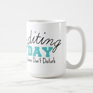 Blue Editing Day Mug