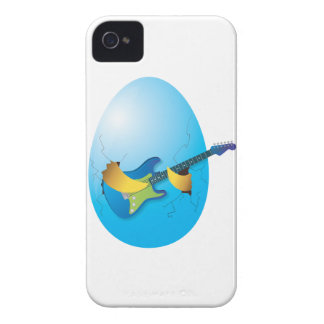 Blue egg playing guitar Case-Mate iPhone 4 case