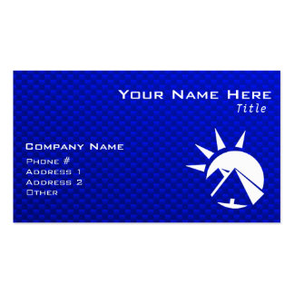Blue Egyptian Pyramid Double-Sided Standard Business Cards (Pack Of 100)