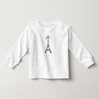 Blue Eiffel Tower in faux glitter Toddler T-shirt