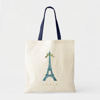 Blue Eiffel Tower in faux glitter Tote Bag