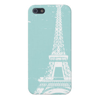 Blue Eiffel Tower iPhone 5 Case Savvy Case