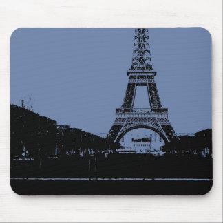 Blue Eiffel Tower Mousepad