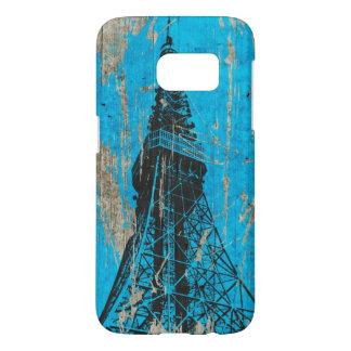 blue Eiffel Tower vintage art Samsung Galaxy S7 Case