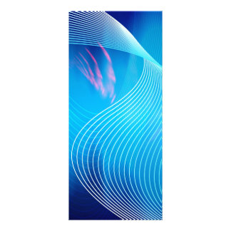 Blue Electric Audio Waveform Abstract Custom Rack Cards