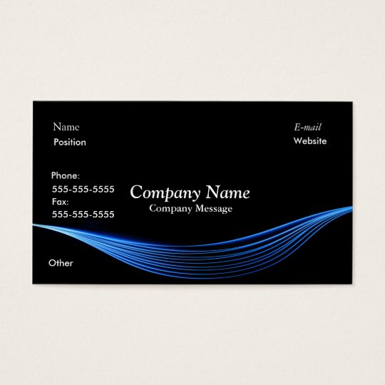 Blue Electric Business Card
