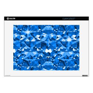 "Blue Electric Diamonds 15"" Laptop Decals"