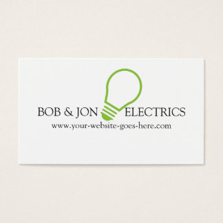 Blue Electric, Electrician Business Card