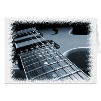Blue Electric Guitar Close-up Card