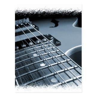 Blue Electric Guitar Close-up Postcard