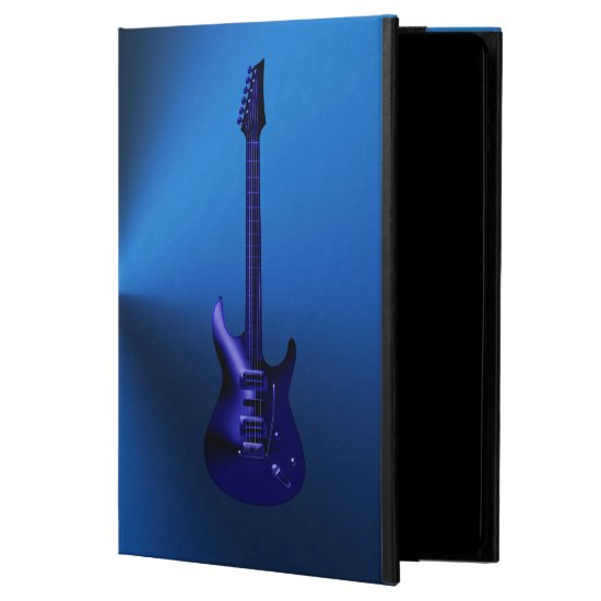 Blue Electric Guitar Monogram iPad Air Case
