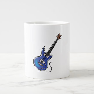 blue electric guitar music graphic.png giant coffee mug